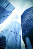 Smooth surface of panoramic modern buildings Royalty Free Stock Photography