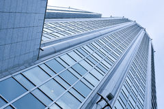 Smooth surface of panoramic modern buildings Royalty Free Stock Photo
