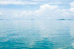 Smooth surface of water Phang Nga Bay Royalty Free Stock Image
