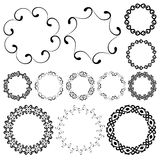 Smooth swirly round frames in mega pack Stock Images