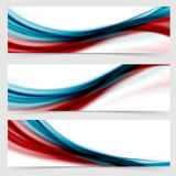 Smooth swoosh header footer web abstract collection Royalty Free Stock Image