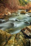 From Smooth to Rapid. Slow exposure river in the mountains of Utah in autumn Stock Photo