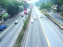Smooth traffic at highway stock video