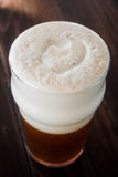 Smooth Unctuous Creamy Home Brew Douple IPA Beer Froth Details Royalty Free Stock Image