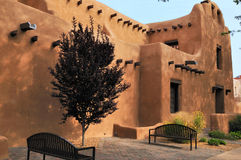 Smooth walls of Santa Fe Royalty Free Stock Photo