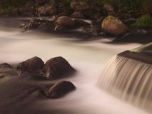 Smooth water. River, long shutter speed Royalty Free Stock Image