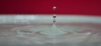 Smooth water droplet Stock Photo