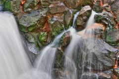 Smooth Waterfall in HDR High Dynamic Range Royalty Free Stock Images