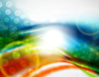 Smooth wave colorful background Royalty Free Stock Photos