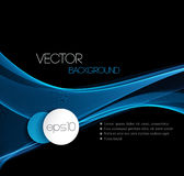 Smooth wave stream line abstract header layout Royalty Free Stock Image