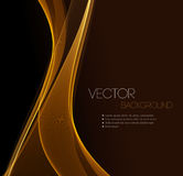 Smooth wave stream line abstract header layout Stock Photography