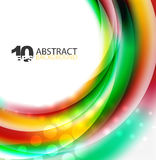 Smooth wave template. Abstract background - vector eps10 illustration Royalty Free Stock Image