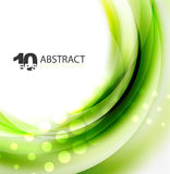 Smooth wave template. Abstract background - vector eps10 illustration Royalty Free Stock Photo