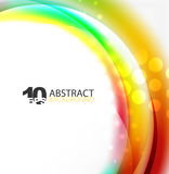 Smooth wave template. Abstract background - vector eps10 illustration Stock Photography