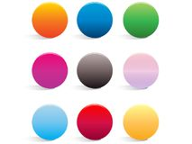 Smooth Web Buttons Stock Photos