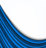 Smooth White On Blue Waves Stock Photo