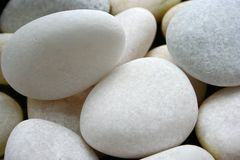 Smooth white pebbles Stock Photography