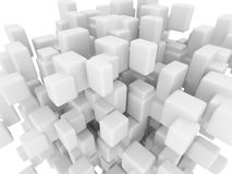 Smoothed cubes backgroud stock illustration