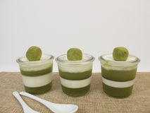 Smoothfood - Jelled zielony smoothie z matcha i jogurtem obraz royalty free