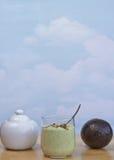 Smoothie авокадоа, бразильский стиль стоковое изображение rf