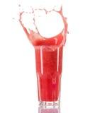 Smoothie арбуза при выплеск изолированный на белой предпосылке Стоковое Фото