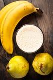 Smoothie банана и груши Стоковое фото RF
