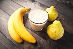 Smoothie банана и груши Стоковое Изображение