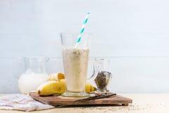 Smoothie банана молока Стоковая Фотография