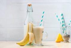 Smoothie банана молока Стоковое Изображение