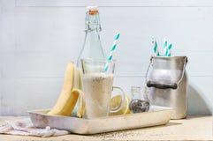 Smoothie банана молока Стоковые Фотографии RF