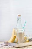 Smoothie банана молока Стоковое Фото