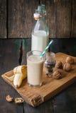 Smoothie банана молока Стоковые Фото