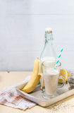 Smoothie банана молока Стоковая Фотография RF
