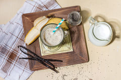 Smoothie банана молока Стоковое Изображение RF
