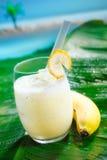 smoothie банана тропический Стоковые Фотографии RF