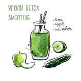 Smoothie вытрезвителя Vegan Бесплатная Иллюстрация