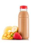Smoothie в пластичной бутылке Стоковая Фотография