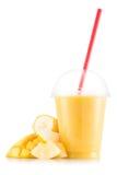 Smoothie в пластичной чашке Стоковое Изображение RF