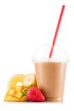Smoothie в пластичной чашке Стоковое Изображение