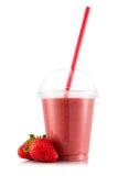 Smoothie в пластичной чашке Стоковые Фото