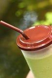 Smoothie замороженного зеленого чая или зеленого чая Стоковая Фотография
