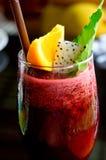 Smoothie и лимон ягоды стоковое фото rf