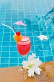Smoothie клубники в стекле коктеиля Стоковое фото RF