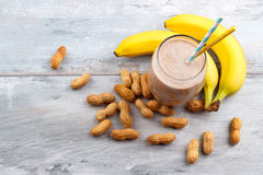 Smoothie овса банана butte арахиса Стоковые Фотографии RF