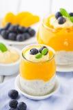 Smoothie персика с семенами chia Стоковые Изображения RF
