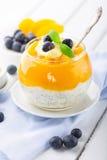 Smoothie персика с семенами chia Стоковое Фото