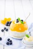 Smoothie персика с семенами chia Стоковое Изображение RF