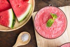 Smoothie смешивания плодоовощ арбуза для здоровья освежая для питья Стоковое Фото