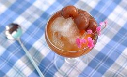 Smoothie сока Longan Безалкогольный напиток стоковая фотография