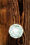 Smoothie югурта с травами на деревенском деревянном backgr Стоковые Изображения RF